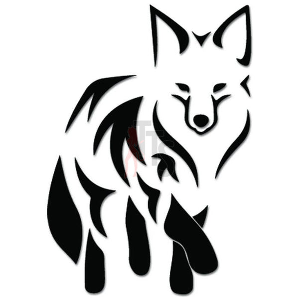 Tribal Fox Walking Animal Wildlife Decal Sticker