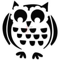 Cute Owl Bird Drawing Decal Sticker Style 1