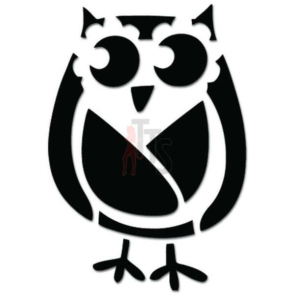 Cute Owl Bird Drawing Decal Sticker Style 2