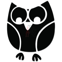 Cute Owl Bird Drawing Decal Sticker Style 3
