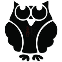 Cute Owl Bird Drawing Decal Sticker Style 4
