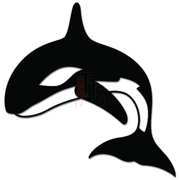 Orca Whale Fish Decal Sticker Style 5