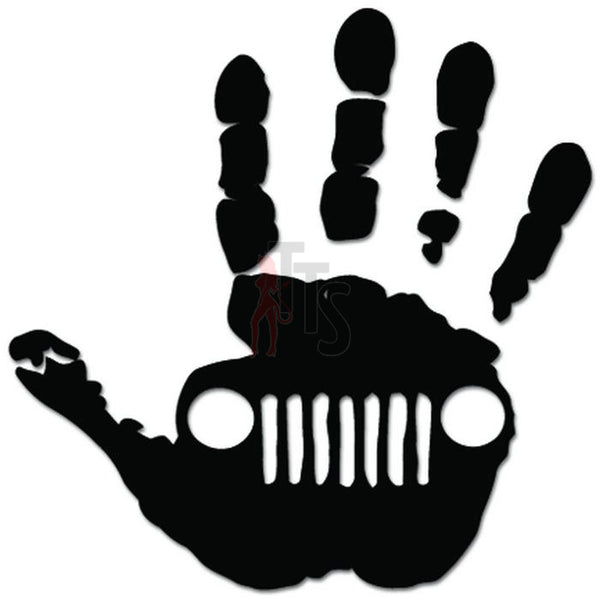 Hand Wave Off Road 4x4 Dirt Decal Sticker