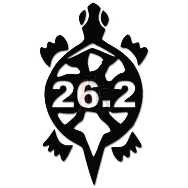 26.2 Marathon Runner Slow Turtle Decal Sticker