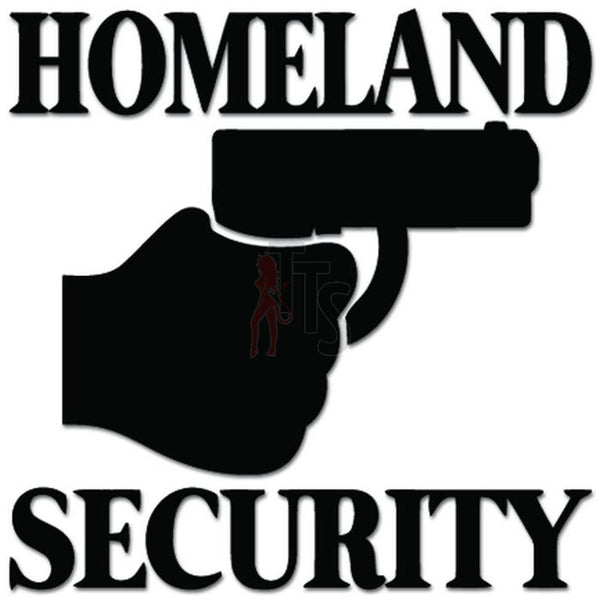 Homeland Security Gun Pistol Decal Sticker