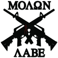 Molon Labe AR-15 Rifle Gun Decal Sticker