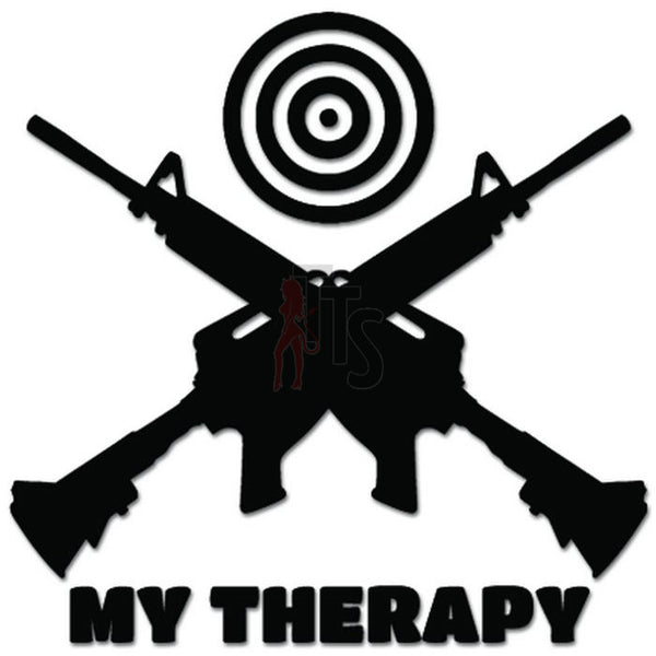 My Therapy Shooting Target AR-15 Rifle Gun Decal Sticker