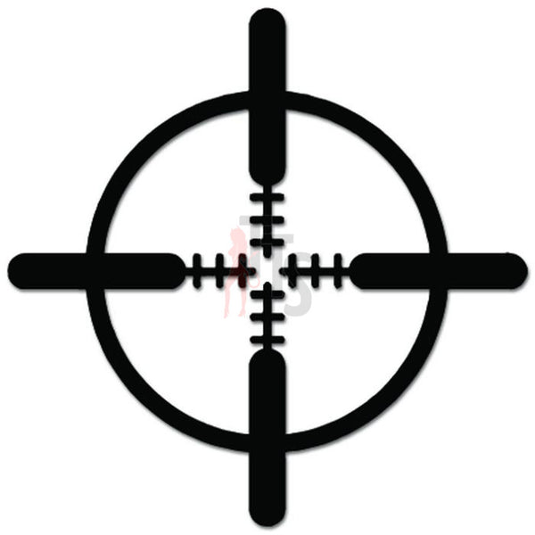 Gun Scope Target Crosshair Decal Sticker
