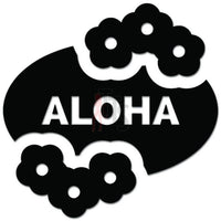 Aloha Flowers Hawaii Decal Sticker