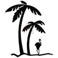 Palm Trees Flamingo Bird Decal Sticker