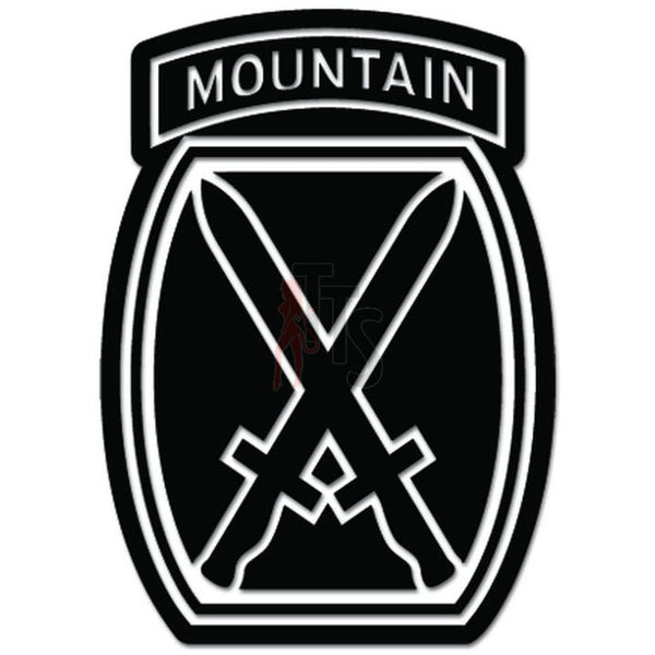 10th Mountain Division US Army Decal Sticker
