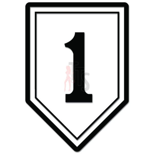 1st Infantry Division US Army Big Red 1 Decal Sticker