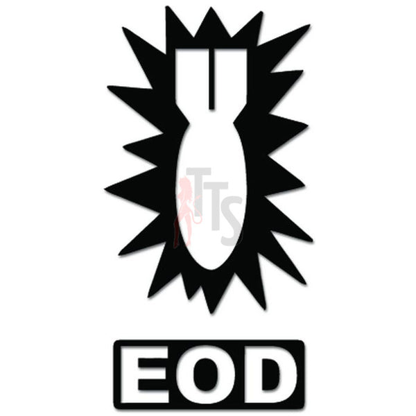 EOD Explosive Ordnance Disposal Decal Sticker