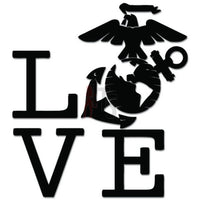 USMC Love Marines Emblem Decal Sticker