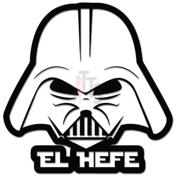 El Helfe Darth Vader Helmet Decal Sticker