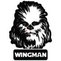 Chewbaca Wingman Decal Sticker