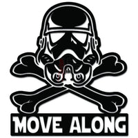 Move Along Stormtrooper Helmet Crossbones Decal Sticker