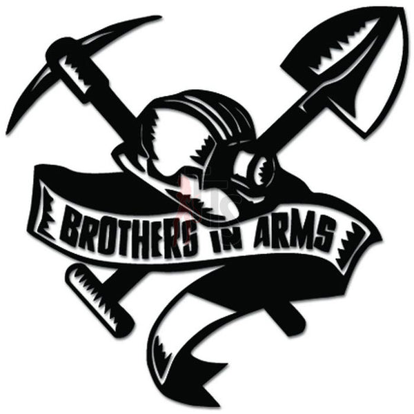 Brothers In Arms Coal Miner Decal Sticker