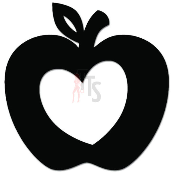 Love Apple Fruit Heart Decal Sticker