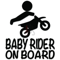 Baby Rider On Board Motorcycle Decal Sticker Style 2