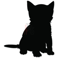 Cute Kitty Kitten Cat Sitting Decal Sticker