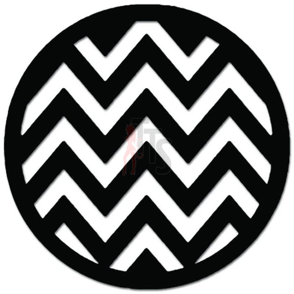 Chevron Ball Christmas Ornament Decal Sticker