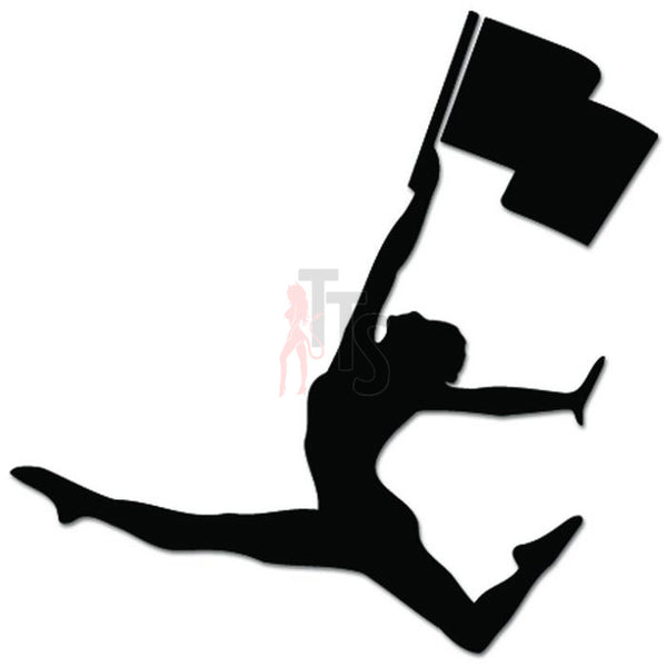 Color Guard Girl School Decal Sticker