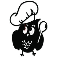 Cute Owl Cooking Chef Decal Sticker