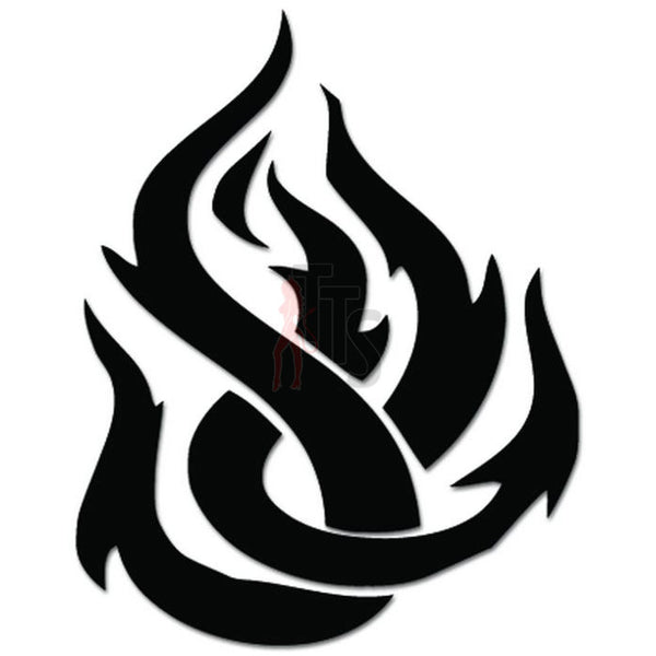 Tribal Fire Flame Decal Sticker