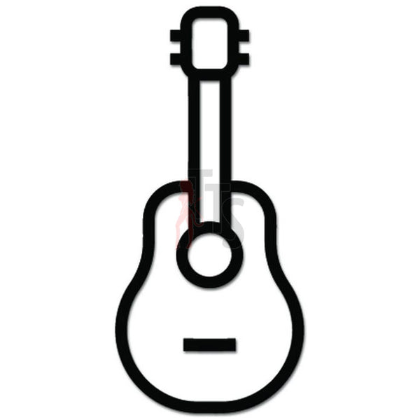 Guitar Player Rock Music Decal Sticker Style 3