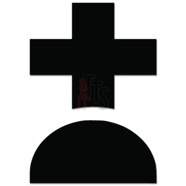 Halloween Grave Decal Sticker