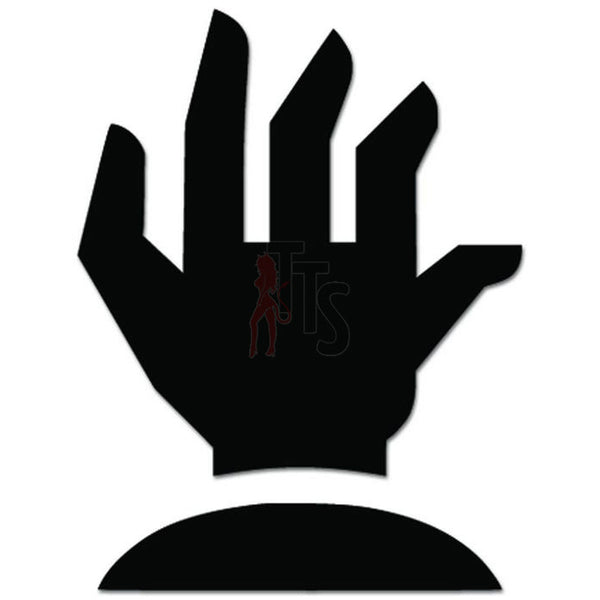 Zombie Hand Grave Decal Sticker Style 2