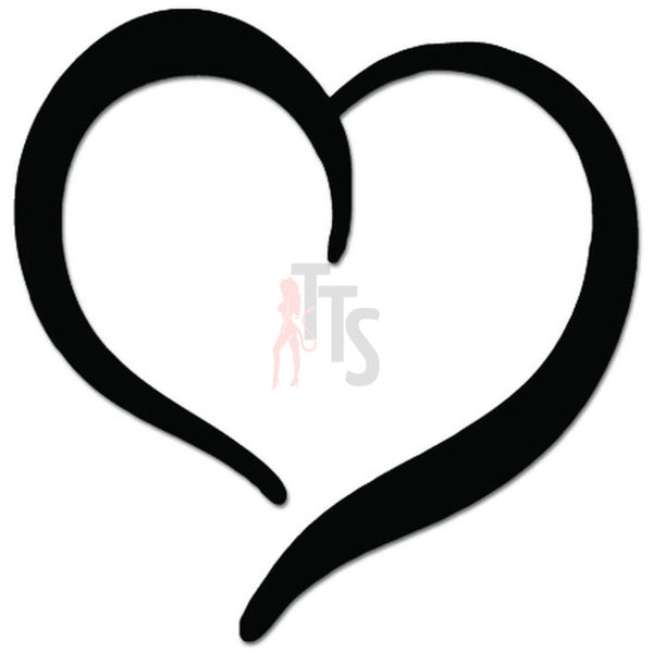 Love Heart Shape Decal Sticker