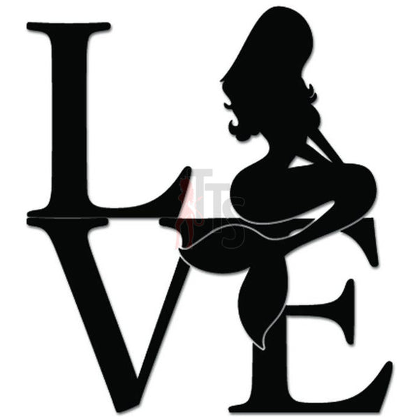 Love Mermaid Fish Decal Sticker