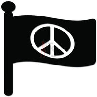 Flag Peace Sign Decal Sticker