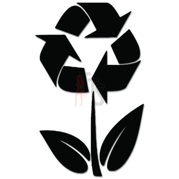 Recycle Flower Sign Decal Sticker