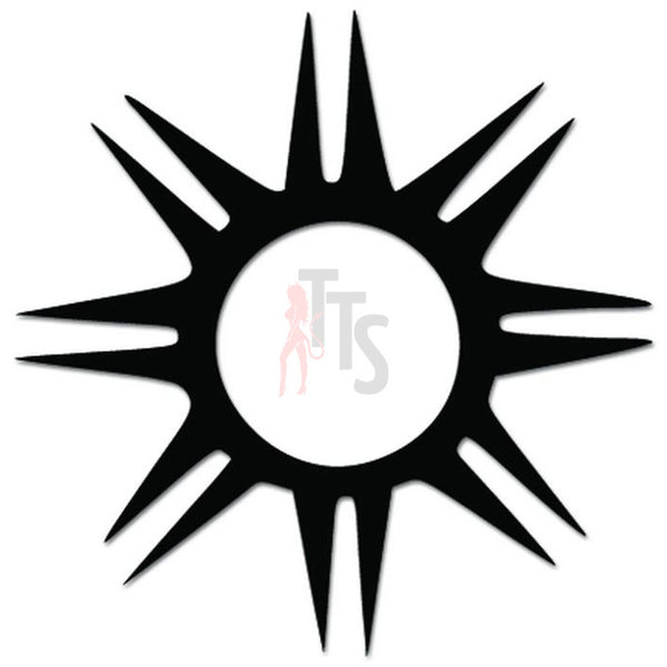Tribal Sun Tattoo Decal Sticker