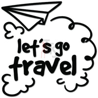 Let's Go Travel Airplane Plane Decal Sticker