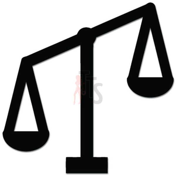 Unbalanced Scale Injustice Law Lawyer Decal Sticker