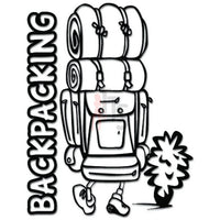 Backpacking Backpacker Hiking Travel Decal Sticker