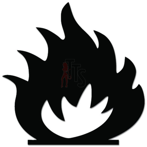Campfire Fire Flame Camping Decal Sticker
