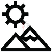 Mountain Sun Sky Outdoors Hiking Decal Sticker Style 2