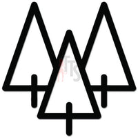 Nature Tree Mountain Outdoors Decal Sticker Style 4