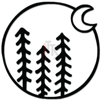 Forest Trees Moon Adventure Outdoors Decal Sticker