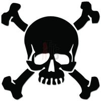Death Skull Crossbones Decal Sticker Style 18