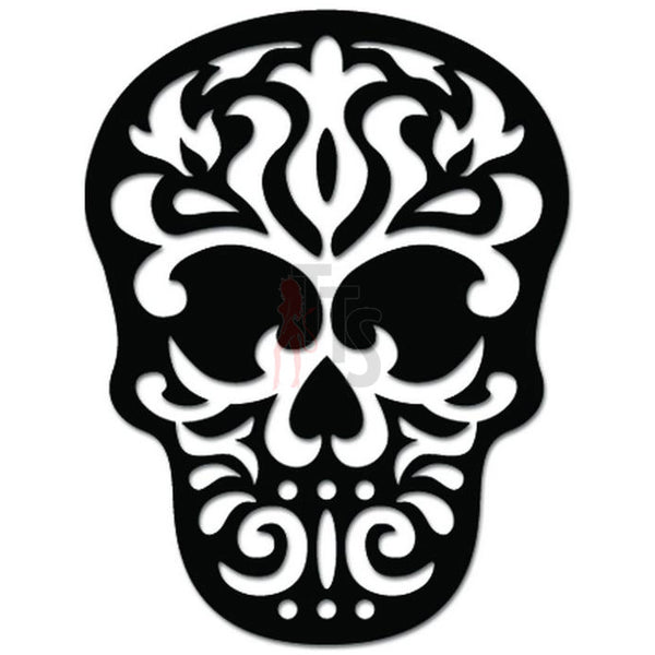 Tribal Death Skull Mask Decal Sticker