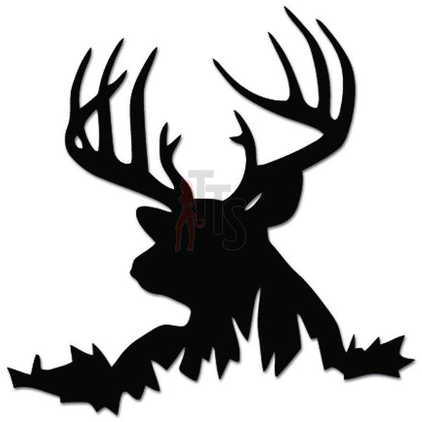 Deer Buck Hunting Hunter Decal Sticker Style 1