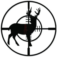 Deer Buck Hunting Target Scope Decal Sticker