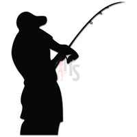 Fisherman Rod Fishing Decal Sticker