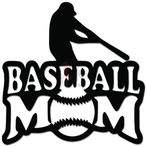 Baseball Mom Sports Decal Sticker Style 1